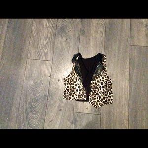 Cheetah print vest